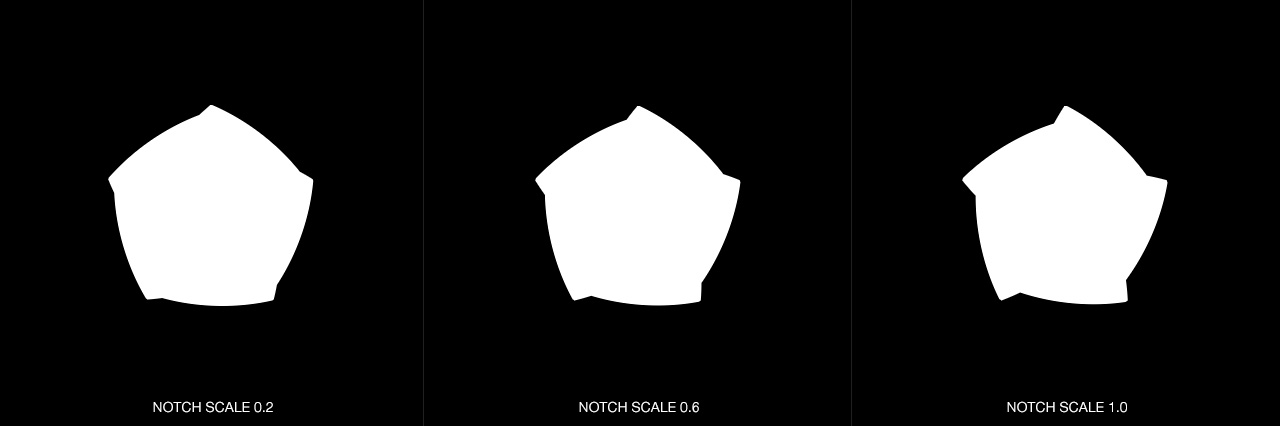DOF PRO Aperture Notch Scale