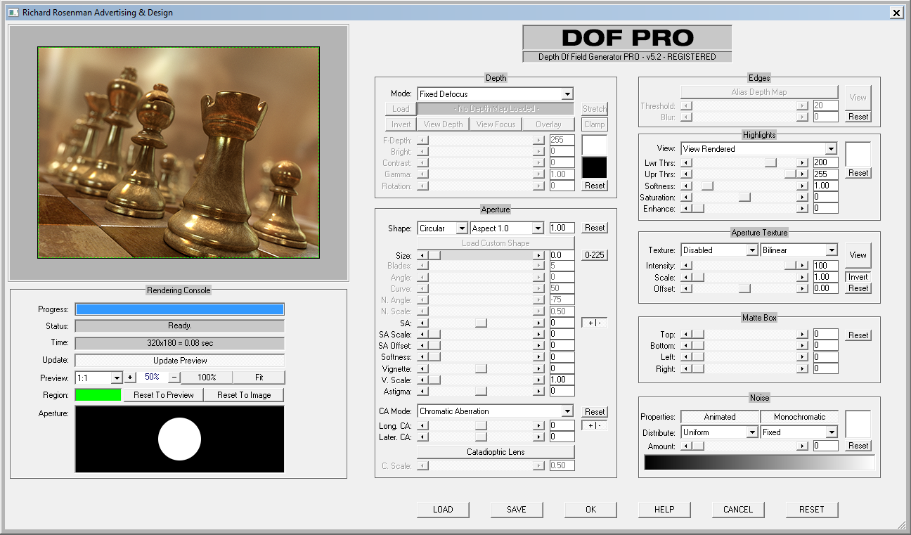 DOF PRO Interface