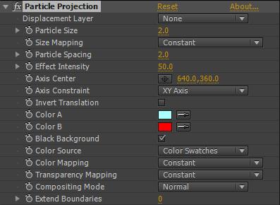 Particle Projection GUI
