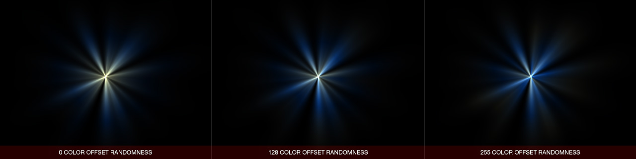Ultraflares Color Offset Randomness