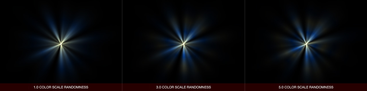 Ultraflares Color Scale Randomness