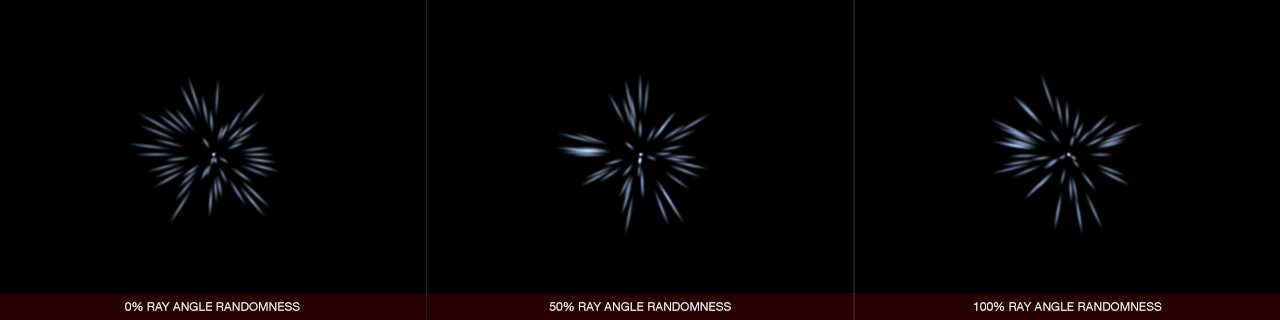 Ultraflares Sparkle Object Ray Angle Randomness