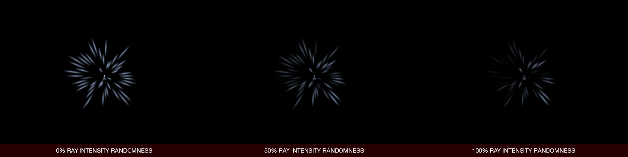 Ultraflares Sparkle Object Ray Intensity Randomness