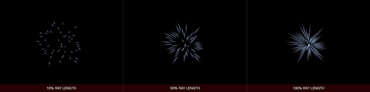 Ultraflares Sparkle Object Ray Length