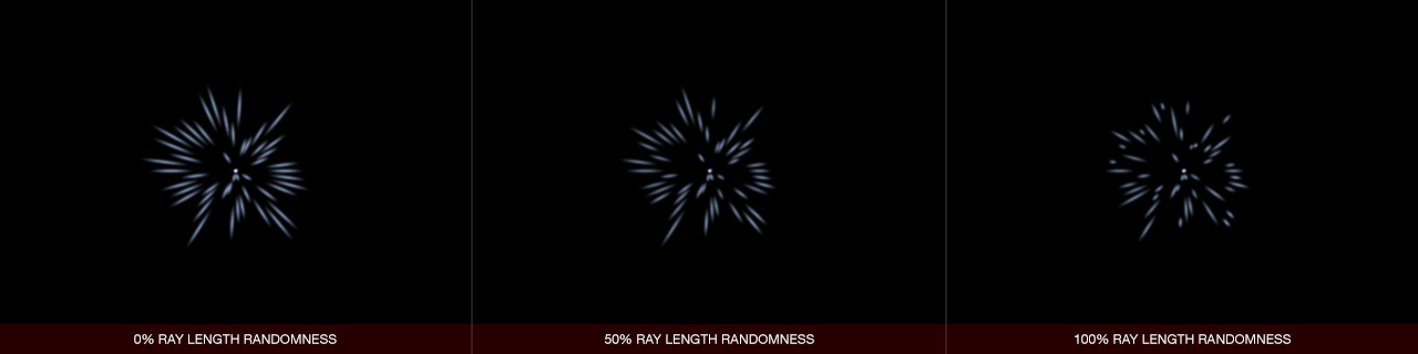 Ultraflares Sparkle Object Ray Length Randomness
