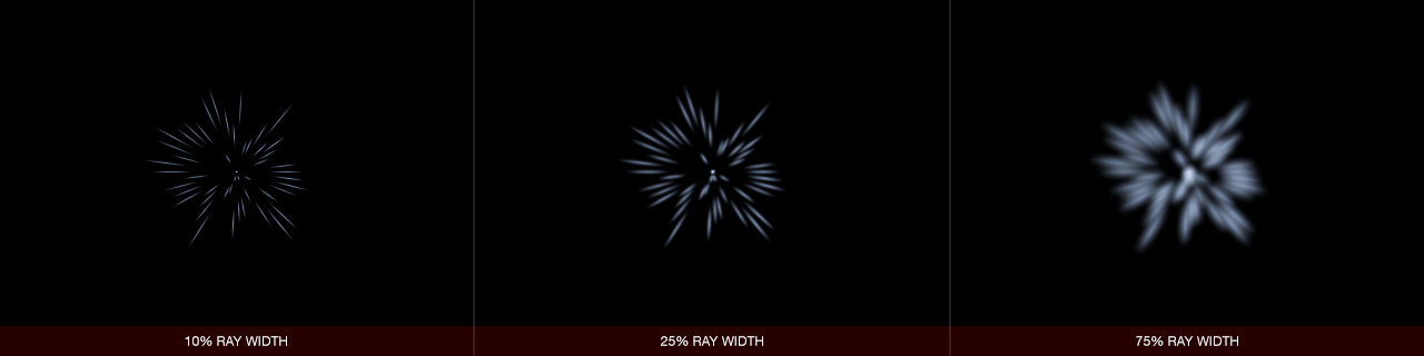 Ultraflares Sparkle Object Ray Width